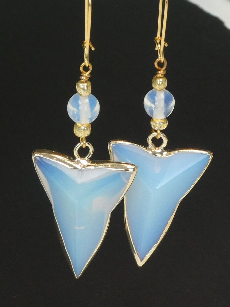 Excited to share the latest addition to my #etsy shop: Drop Earrings Opalite Triangle Earrings Gift for Her Geometric Jewellery Bridesmaid Gift Statement Earrings http://etsy.me/2FioMck #earrings  https://www.etsy.com/uk/shop/ORNAMENTAbyelizabe