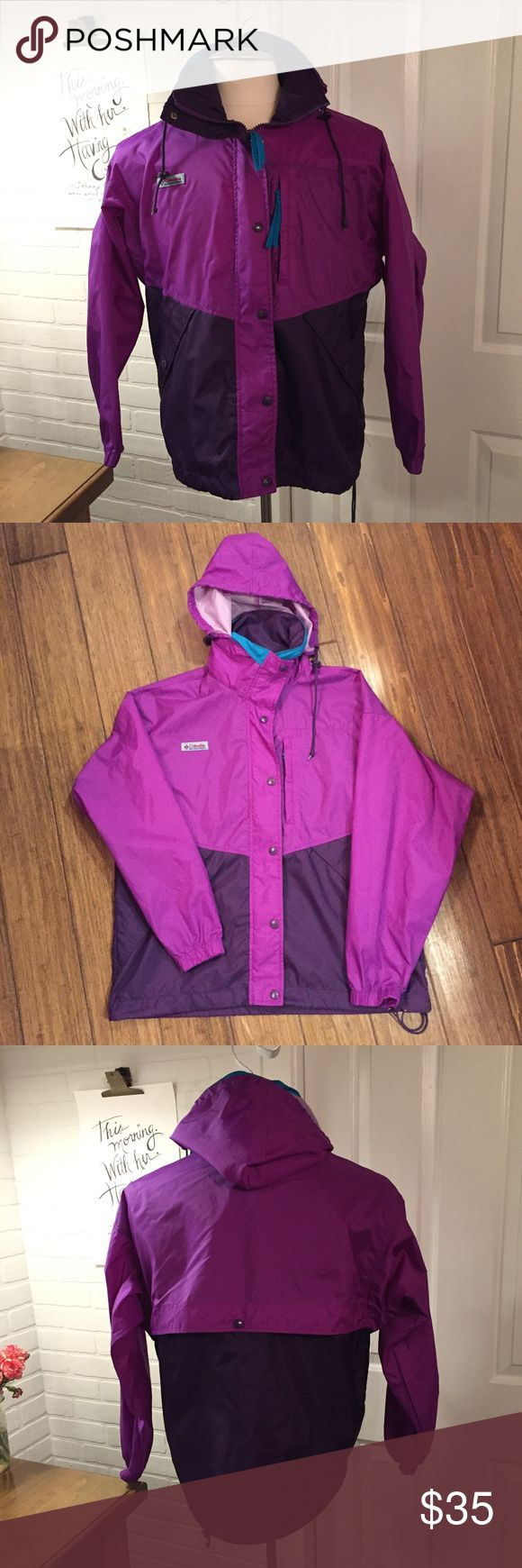 Columbia Zip Up Windbreaker Jacket Womens Medium Brand - Columbia  Style - Zip Up Windbreaker Jacket  Size - Medium  Color - Purple  Great Pre-Owned Condition Columbia Jackets & Coats