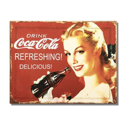 "AdecoTrading ""Drink Coca - Cola"" "" Wall Décor"