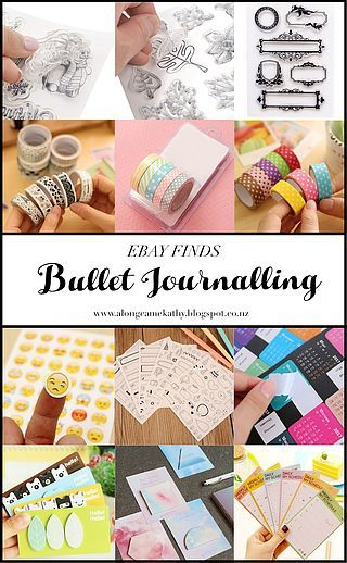 eBay Finds - Bullet Journalling #3 Trying to find bullet journal accessories? ebay has you covered with these cute stickers, stamps, washi tape and post it notes. @alongcamekathy_ www.alongcamekathy.blogspot.co.nz