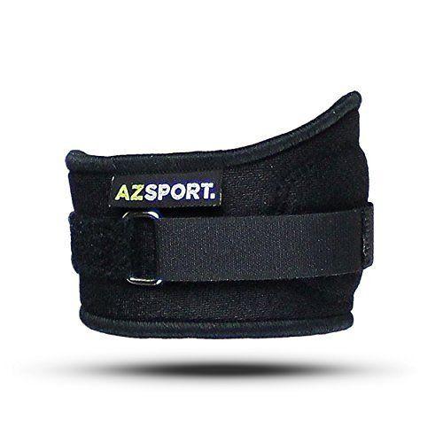 AZSPORT Tennis Golf Elbow Brace One Size Black ** For more information, visit image link.