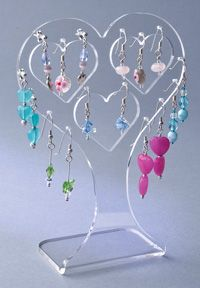 Clear Acrylic Earring Display Holder