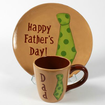 Fathers Day DIY Handmade bisque. Creative keepsake for your daddy's. Gift Idea