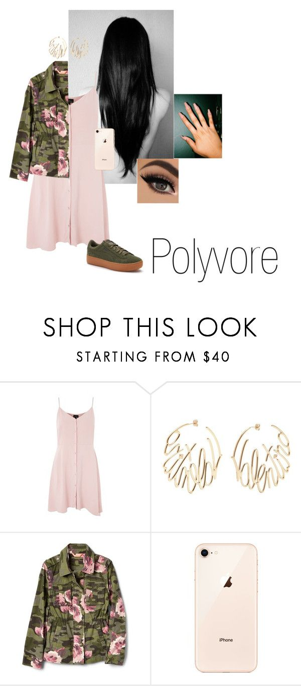 """""""Sem título #197"""" by someoneyouknow000 on Polyvore featuring moda, Topshop, Valentino e Puma"""