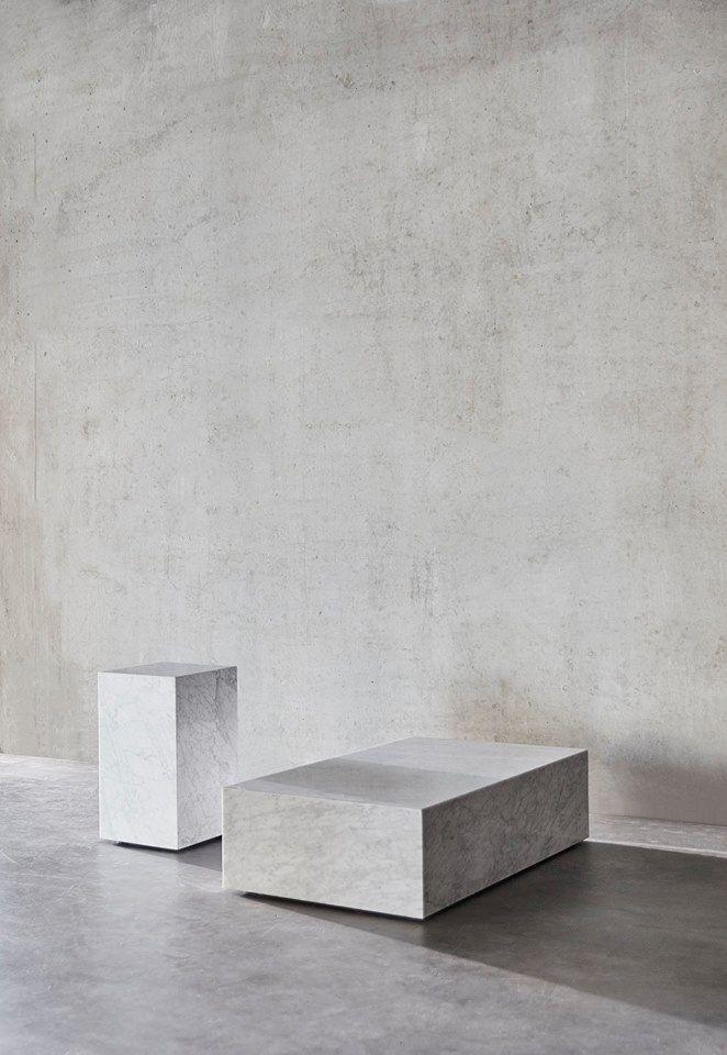 Plinth Marble Table by MENU