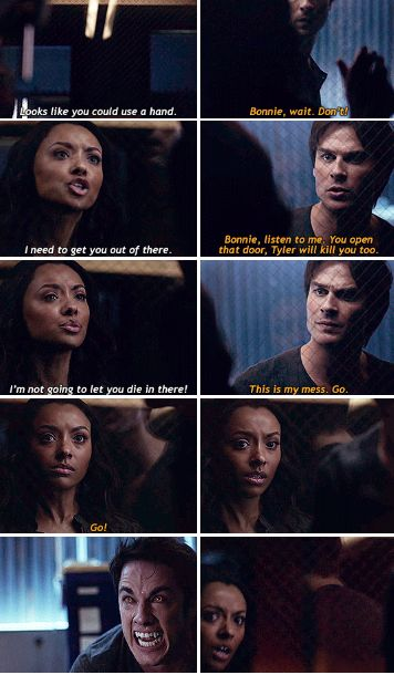 "#TVD 7x14 ""Moonlight on the Bayou"" - Bonnie and Damon"