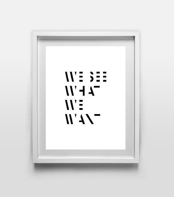 We zien wat we willen minimalistische mode citeer door AngiesPrints