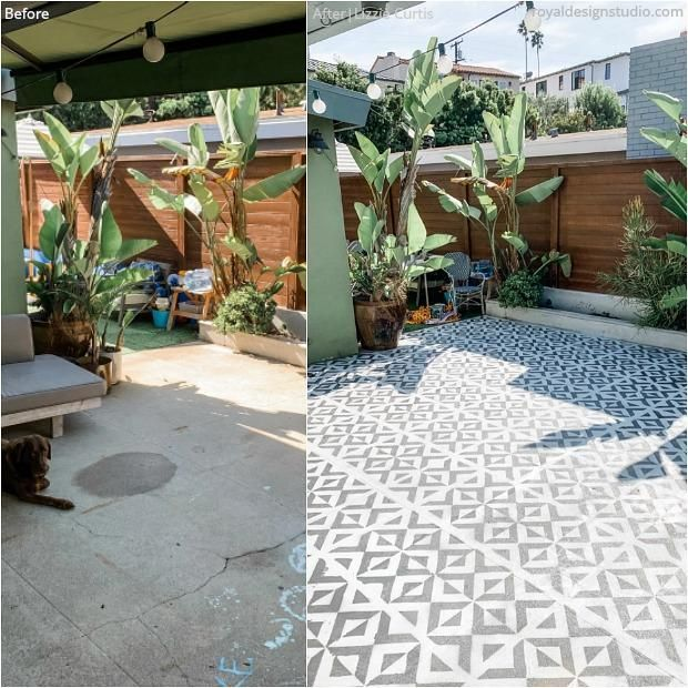 Backyard Bliss Renovate On A Dime With Stencils Moroccan Wall