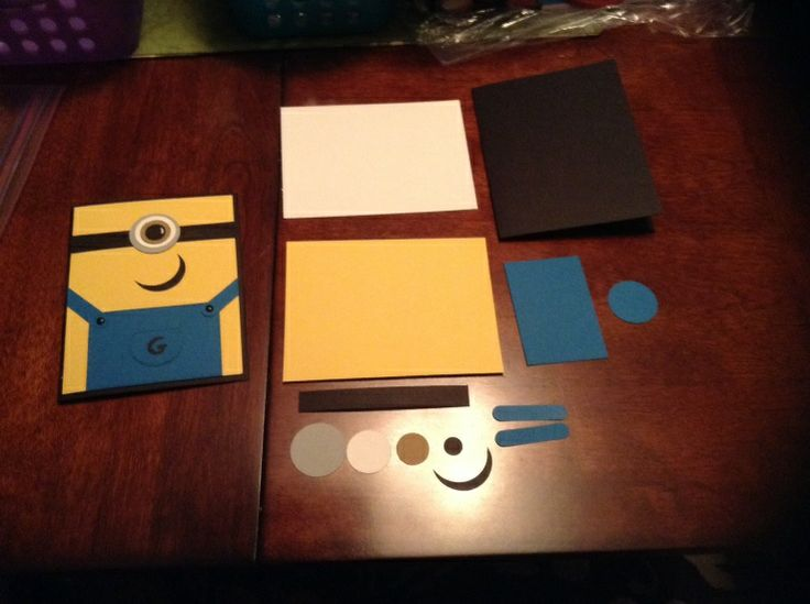 Minion card and pieces