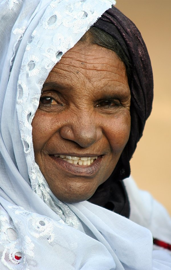 A lady I ran across in the Sahara