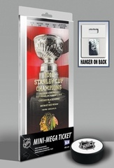 Chicago #Blackhawks 2010 Stanley Cup Championship Banner Raising Mini-Mega Ticket. The Chicago Blackhawks are Stanley Cup Champions. Not since 1961 has Lord Stanley's Cup called Chicago home and the championship banner now hangs from the rafters at the United Center thanks to an emotional opening night pre-game celebration.  This Mini-Mega Ticket celebrates the Chicago Blackhawks Stanley Cup Banner Raising event as well as the team's fourth overall championship.