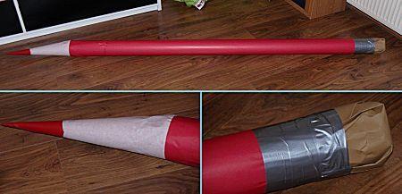 Potlood met gum is een knutselwerkje uit de categorie Sinterklaas