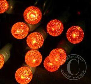 Orange LED Lights G12 50-bulb