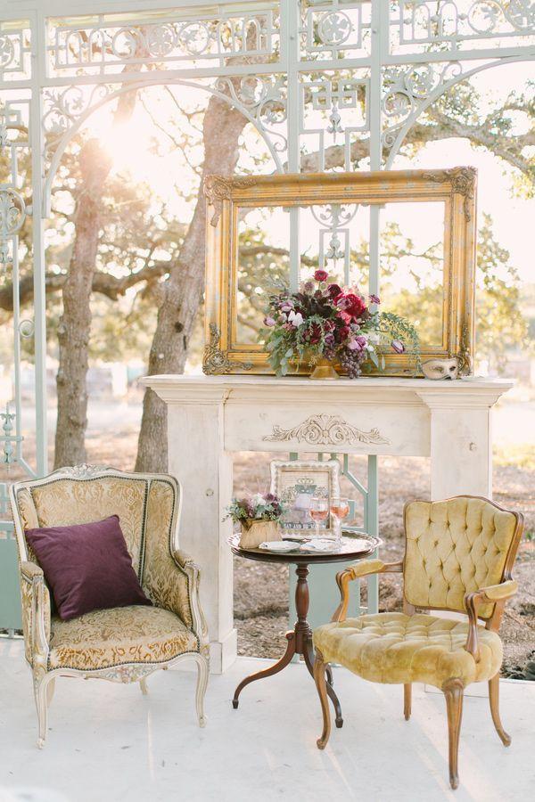 Vintage Lounge Furniture Bee Lavish.com  #weddingfurniture #goldwedding #MaMaison
