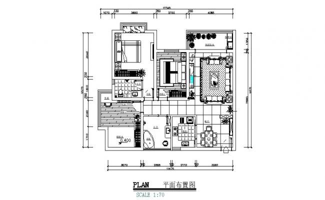 Layout Plan Of The House With Detail Dimension In Dwg File Ground Floor Plan House Floor Plans Floor Plans