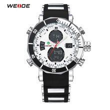 WEIDE Men Sports Watches Waterproof Military Quartz Digital Watch Alarm Stopwatch Dual Time Zones Wristwatch relogios masculinos(China (Mainland))