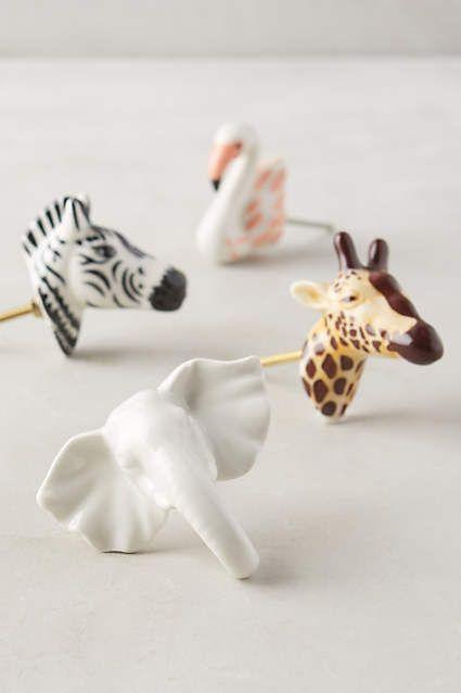 Ceramic Safari Knob - anthropologie.com
