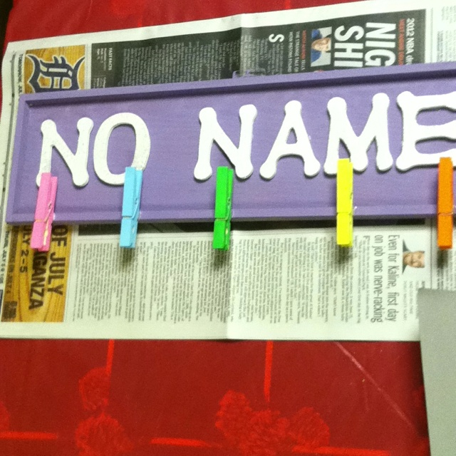 No name board so cute!! Good for (any age but I'm thinking) middle schoolers!