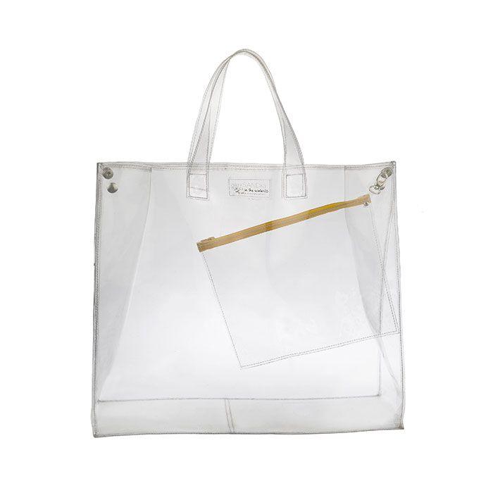 clear shopping bag