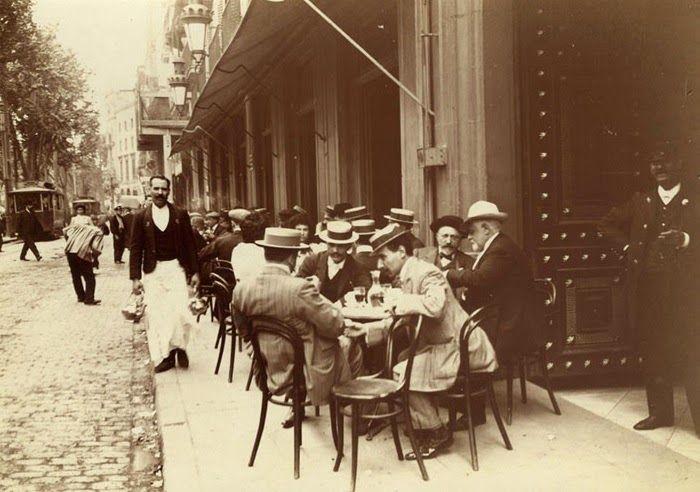 Barcelona (1907-1908), Frederic Ballell: Rambla de Capuchinos. Terraza del Hotel Oriente.