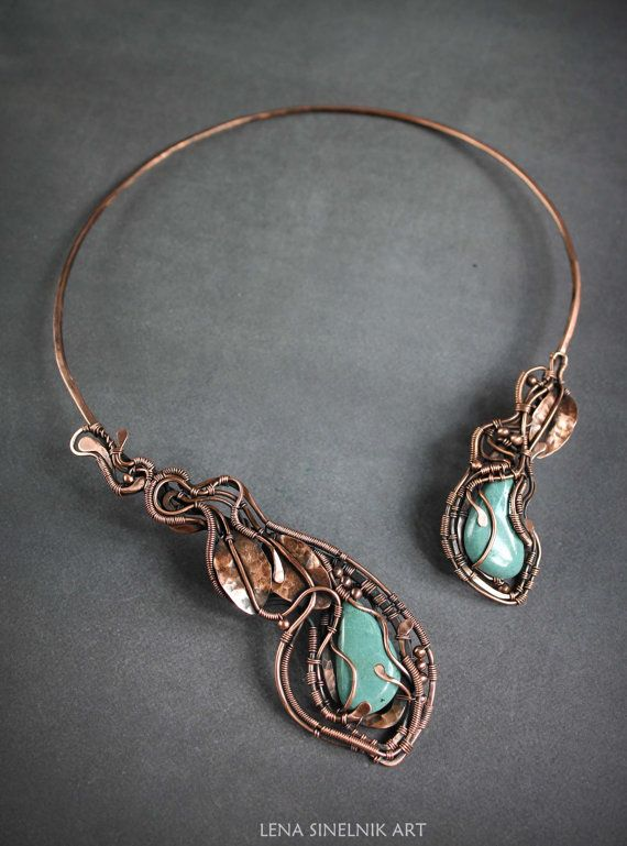 25 best ideas about copper necklace on wire