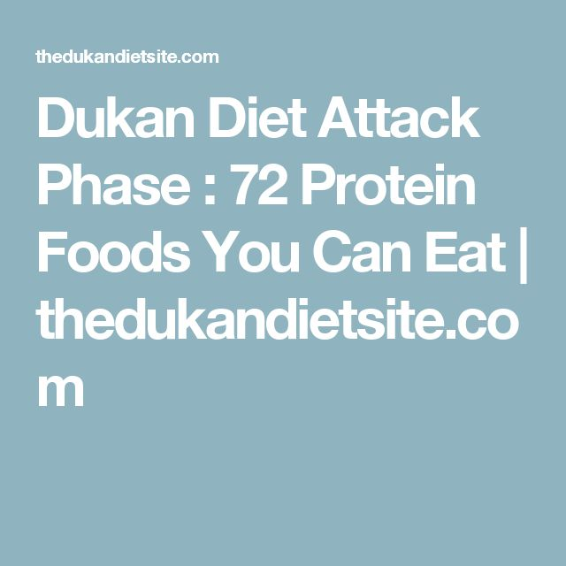 Dukan Diet Attack Phase : 72 Protein Foods You Can Eat | thedukandietsite.com
