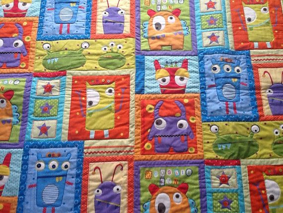766 best images about patchwork baby on pinterest quilt for Baby monster fabric