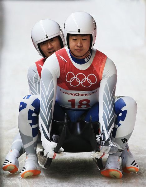 DAY 5:  Luge Men's Doubles -  Jin Yong Park and Jung Myung Cho of Korea