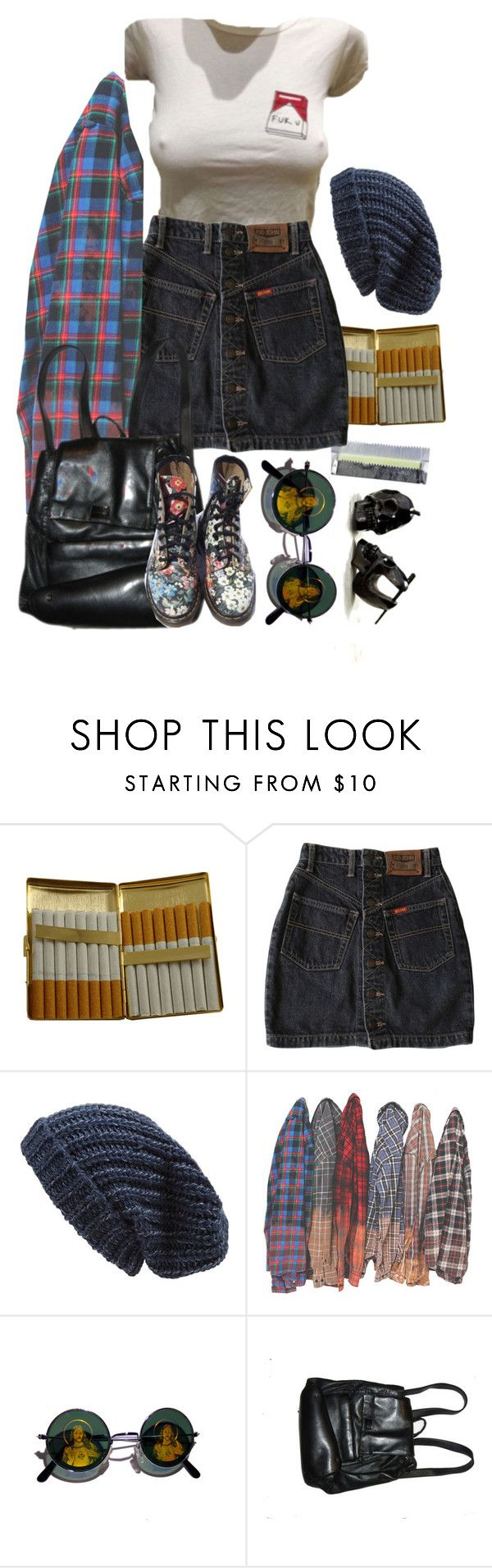 """""""it's getting hard to be someone"""" by urmypoison ❤ liked on Polyvore featuring KING, G1, Phase 3, Retrò, Perlina and Dr. Martens"""