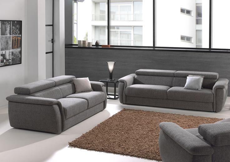 Veelzijdige donkergrijze zetel die bij elk interieur past - joop möbel wohnzimmer