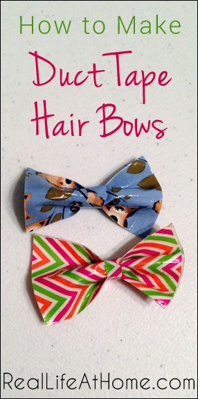How to Make Duct Tape Hair Bows - fun craft for kids and adults   RealLifeAtHome.com