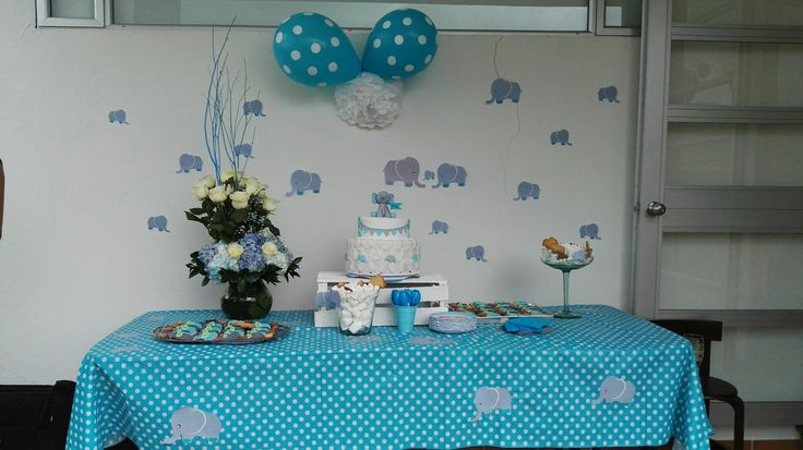 Sweet table baby shower #boy #babyshower