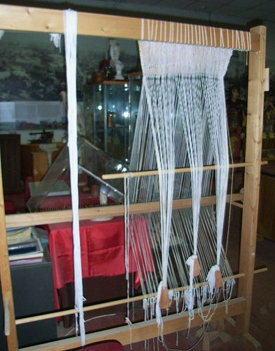 Texare Ancient Roman Weaving Loom Photograph taken with permission at Museo Gruppo Storico Romano Museum in Rome. Italy. Italia