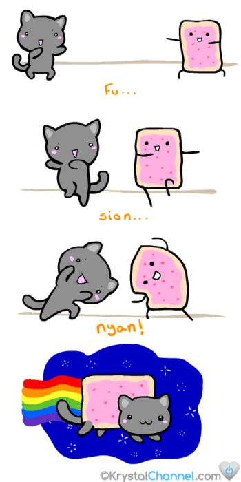 nyan cat origins, just yes on so many levels.. I love the DBZ reference to fusion!! X147875428997534!!!!!