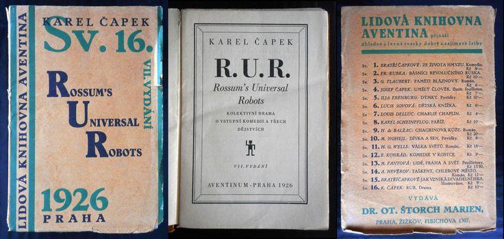 rare czech avant-garde AVENTINUM AUCTION Karel Capek 1926 Sv.16 R.U.R.