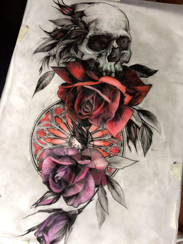 #skull #skulltattoo #skullrose #skullrosetattoo #windowrosetattoo #skullrosesketch #skullroseart #черепрозы #черепрозытату #черепрозыэскиз #реализмэскиз