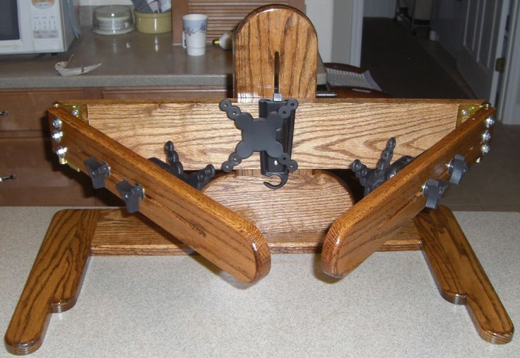 Solid Oak 3 Monitor Stand Monitor Stand Diy Craft Table