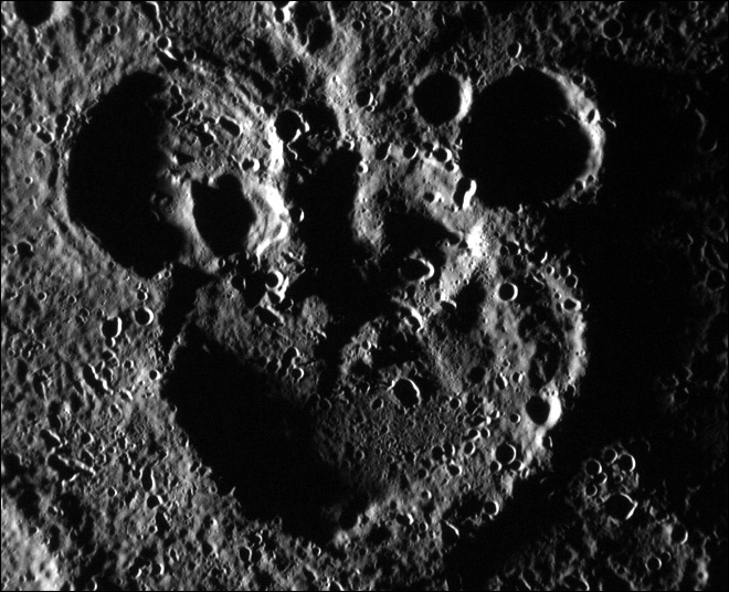 NASA spacecraft finds Mickey Mouse on Mercury... this is awesome!
