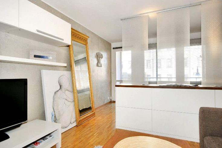 Дизайн квартиры-студии художника 43 м в Стокгольме