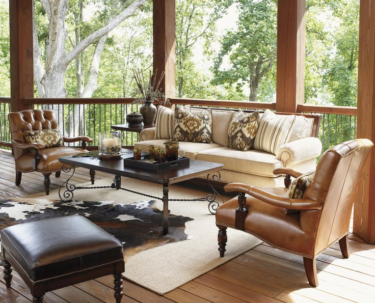 Leather Chairs? Fieldale Lodge Wilshire Leather Upholstered Chair With  Tufted Back By Lexington Home Brands