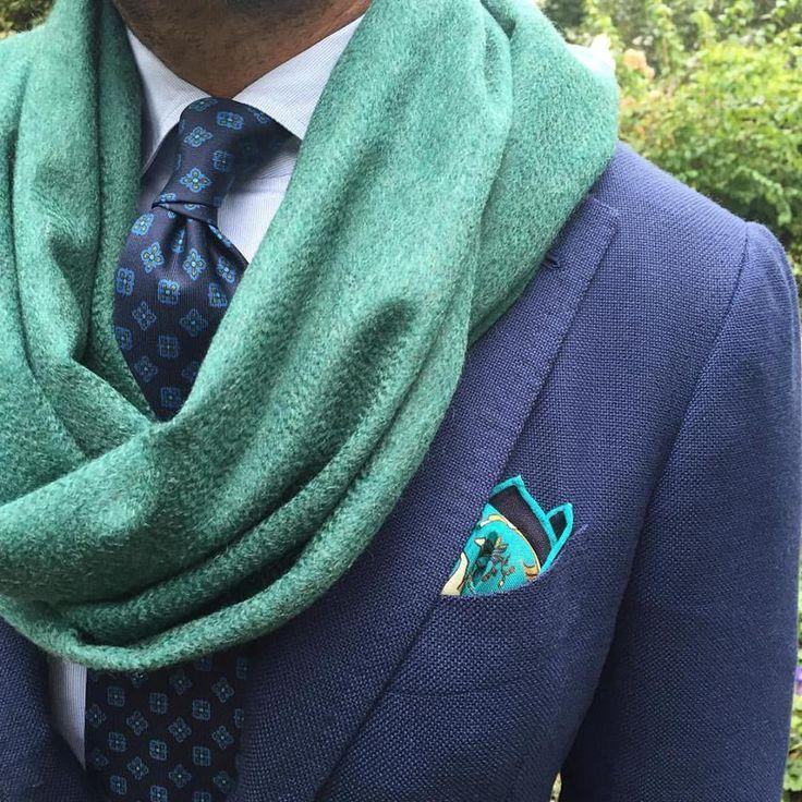 Handprinted Silk & Cashmere