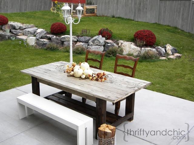 DIY Outdoor Farmhouse Table | Farmhouse table, Outdoor ...