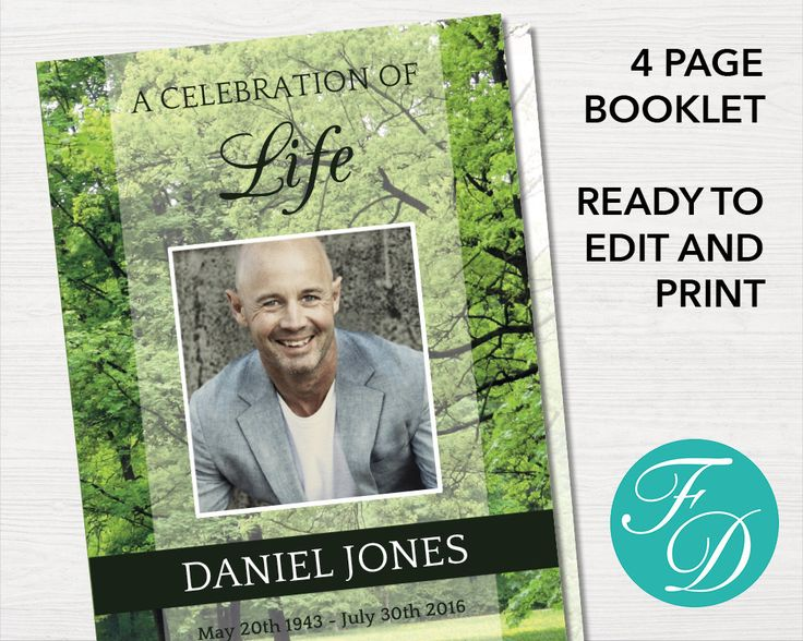 190 best Funeral Programs for Men Obituary Templates \ Prayer - celebration of life templates