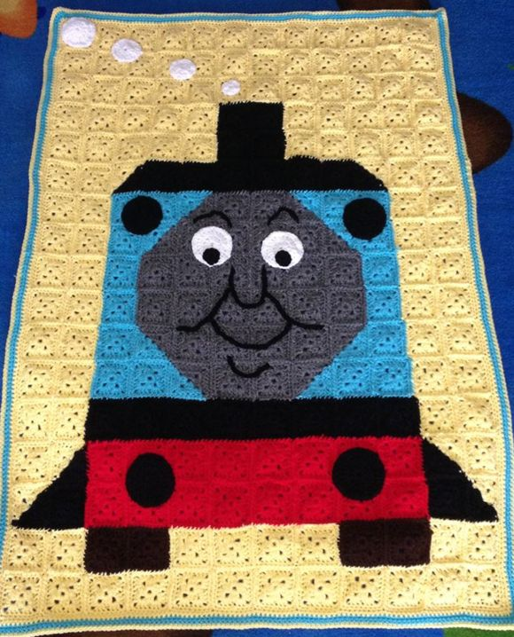 Thomas Train Crochet Blanket