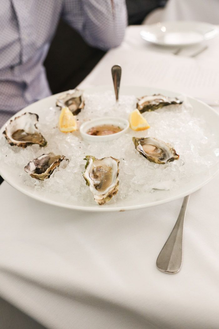 Lunch in Napa: Oysters from Tomales Bay