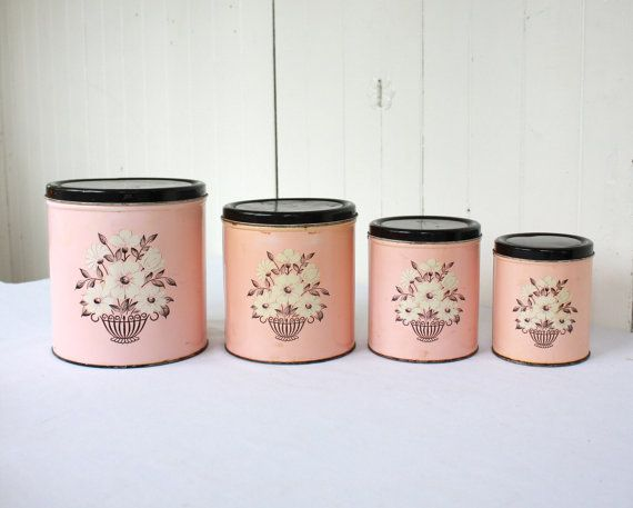 17 best images about flour sugar coffee tea on pinterest coffee tea canister sets and - Pink tea and coffee canisters ...