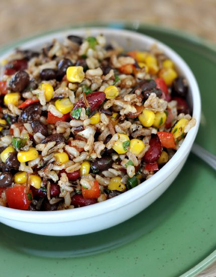 Confetti Rice and Bean Salad - LOVED. Ate as a side one night and with tortilla chips the next day. Used apple cider vinegar instead bc what I had and didn't have red beans but still amazing.