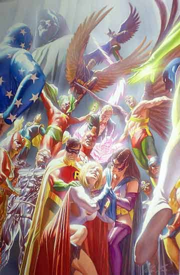 Justice Society of America by Alex Ross, they brought the JSA back only to kill them off again!