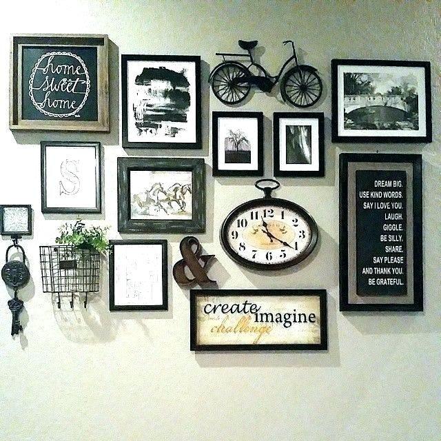 Photo Arrangement On Wall Arrangements Pinterest Gallery Wall Decor Minimalist Living Room Decor Living Decor