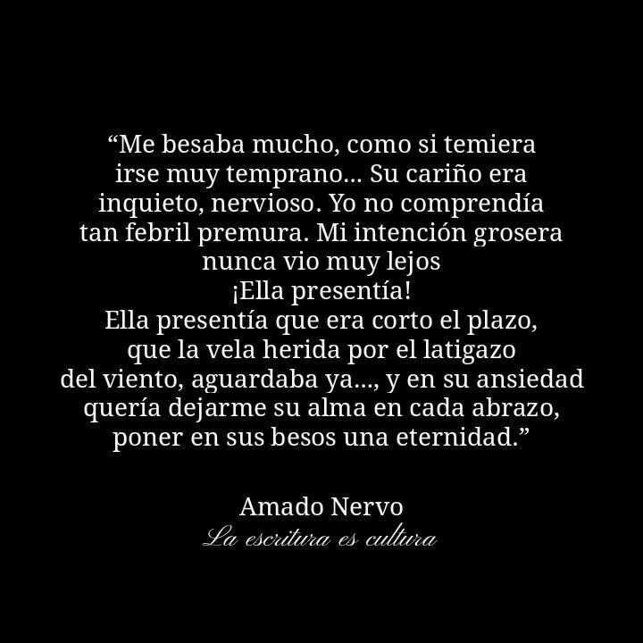 Ella presentía...  Amado Nervo